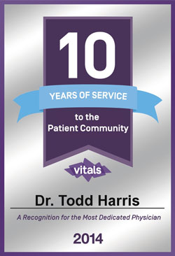 Dr. Todd S. Harris 10 Years of Service