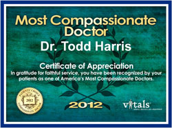 Dr. Harris Compassionate Doctor 2012