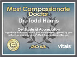 Dr. Harris Compassionate Doctor 2013