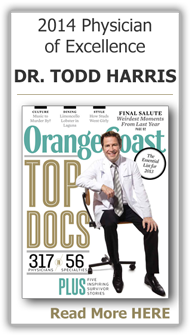 Dr. Harris 2014 Physician of                    Excellence Award, Orange Coast Magazine