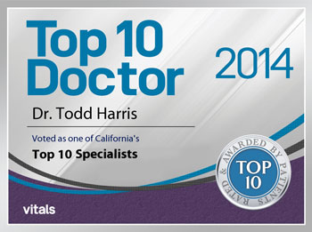 Dr. Todd S. Harris Top 10 Doctor Award 2014