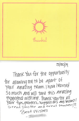 MA Teacher Thank you card