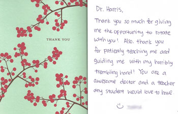 PA Teacher Thank you card